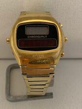 HEUER CHRONOSPLIT LCD LED Calibre 100 R100 703 Quartz  Collectible Watch