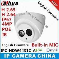 Dahua IPC-HDW4431C-A HD 4MP PoE Audio Dome IR 30M Network Security IP Camera