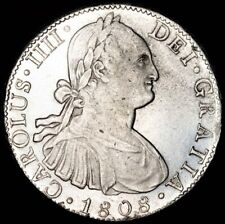 1808 CAROLUS IIII MO TH 8 REALES ☆ AU ☆ HAS LUSTER ☆ WONDERFUL COIN ☆