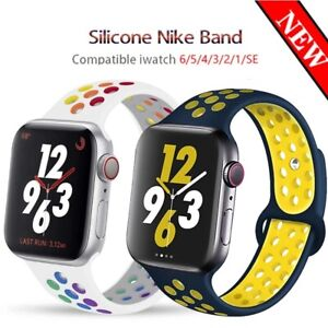 Sport Band Silicone iWatch Strap For Apple Watch Series SE 6 5 4 3 2 1 40 44mm