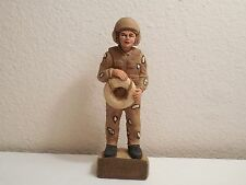 """1991 Desert Storm US Coast Guard Figurine ~ By TNT ~ Resin ~ 6 3/4"""" Tall"""