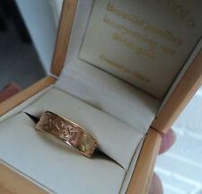 Welsh 9ct Yellow & Rose Gold Celtic Ring h/m 2008 Cymru Y Metel  -  size L / M
