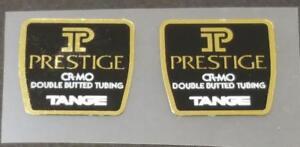 Tange Prestige Fork Tubing Decals - Mirror Gold / White - 1 Pair (sku Tang876)