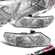 2006 2007 2008 2009-2011 Honda Civic 4Dr OE Style Headlights Chrome Lamps Pair