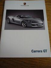PORSCHE CARRERA GT CAR BROCHURE 2000 / 2001 jm