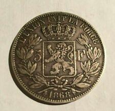 5 francs argent belges 1868