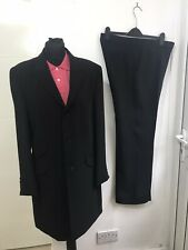 Gibson Directional Stunning Men's Black Suit Regular Long Coat U.K. 40IN W34 L31