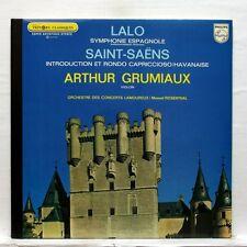 GRUMIAUX - LALO symphonie espagnole SAINT-SAENS havanaise, intro PHILIPS LP NM