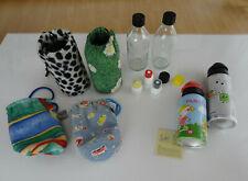 EMIL die Flasche 0,3l Glasflaschen mit 4 Bezügen & Zubehör & 2 Alu Trinkflaschen