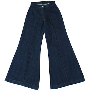 NEW Ladies Girls Mens Vintage Wide Leg 90s Baggy Skater Jeans Denim Flared Y2K