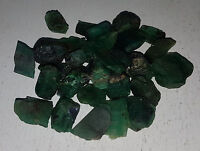 Natural Loose Brazil Green Emerald Rough Gemstone 3 0r 4pcs Non treated