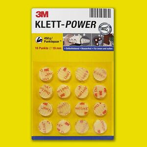 3M Klett-Power, Klettband selbstklebend, runde Form, Supertack. DAS ORIGINAL!