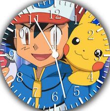 Pokemon Pikachu Ash Frameless Borderless Wall Clock Nice For Gifts or Decor E421