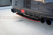 STI Style ABS Rear Bumper Diffuser For MY15-19 Subaru WRX/STI (BLACK/RED ACCENT)