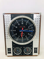 Spirit of St. Louis Charles Lindbergh Airfield Wall Clock - Humidity/Temperature