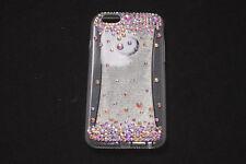 Stylish Girls/Women White Sillicone iPhone 6/6S Case w Diamonds (S583)