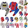 Kinder Jungen Mädchen Superheld Mickey Langarm Schlafanzug Nachtwäsche Kleidung