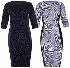Animal Print 3/4 Sleeve Casual Dresses for Women