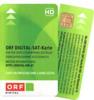 ORF Digital Sat-Karte HD - Neu und 5 Jahre Aktiv bis Juni 2023