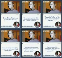Star Trek TOS Archives & Inscriptions card 83 Commissioner Bele 21 different Var