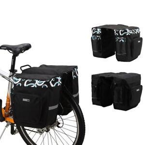 Bike Seat Sides Pannier Rack Saddle Bag MTB Mountain Bicycle Pouch Waterproof
