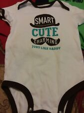 Lot of 2 Okie Dokie Carter's Body Suits Boys 18 Months Long Sleeve Short Sleeve