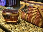 Longaberger new 25th Anniversary Lgr and small baskets. Includes baskets, liners
