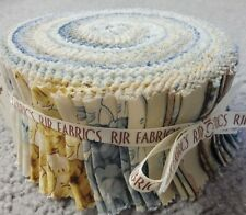 "Quilting fabric jelly roll 40 strips x 2.5"" RJR Fabrics blues & yellows"