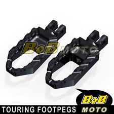 For Suzuki DL 650 V-Strom 11 12 13 14 15 16 Black Touring CNC Front Foot peg