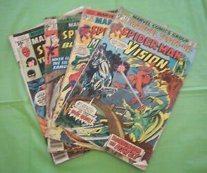 Marvel Team-Up Lot / 4 #42 44 57 59 Soider-Man And Low Grade Readers 1976-77 MIK