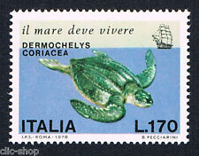 ITALIA 1 FRANCOBOLLO SALVAGUARDIA DEL MARE TARTARUGA MARINA 1978 nuovo**