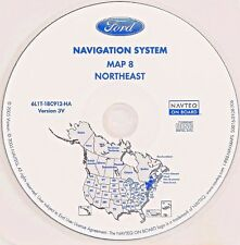 03 04 2005 FORD EXPEDITION NAVIGATION MAP CD NORTHEAST VT ME NH MA RI CT PART NJ