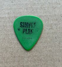 Simple Plan - Jeff Stinco Stage Used 2005 Tour Issued Guitar Pick Green & Black