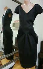 Vertice Dress.Sz12.MD & dsgnd NZ.Soft hi sheen linen.Cotton lined.As new condit