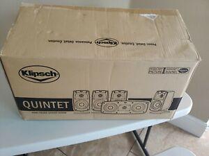 New Klipsch Quintet IV Home Theater Surround Sound 5 Speakers Black 1010440