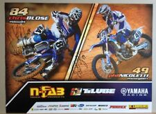 *CHRIS BLOSE & PHIL NICOLETTI*SIGNED*AUTOGRAPHED*POSTER*YAMAHA*MOTOCROSS*COA*