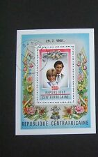 Central Africa 1981 Royal wedding MS Miniature sheet used  charles Diana