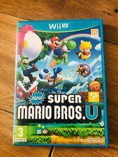 Jeu New super Mario bros sur nintendo wii u en bon etat avec boitier pal