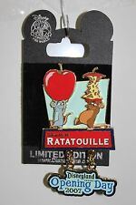 RATATOUILLE OPENING DAY DISNEY PIN Pixar Remy Emile 2007 Disneyland LE1000 NEW