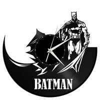 Batman Superhero Art Clock Vinyl Record Wall Mounted Decor Hand Made Home Gift