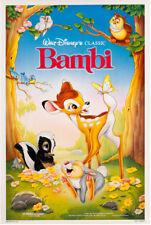 BAMBI • 1-Sheet Movie Poster DS • THUMPER • DISNEY • 1988