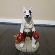Bull Terrier Dog Boxing Limited Edition Statue Ornament