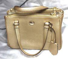 NWT COACH New York mini Women Bag Gold Leather