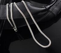 1 Edelstahl Halskette Fuchsschwanz Kette Silberfarbe 52.5cm