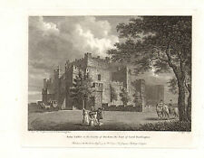 the seats of nobility & gentry 1787 -1815 engraving -  raby castle - durham