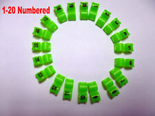 1-20 Numbered 5 mm Green Bird Ring Leg Bands Parrot Finch Canary Grouped