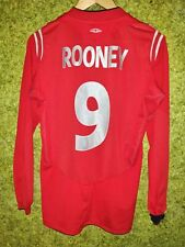 England National Team 2004 2006 Home Football #9 Rooney Shirt Jersey Size S