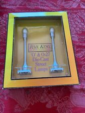C4) MTH / RAIL-KING #30-1078 580-1 Silver  2 Lamp Street Lamp Set New