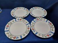 Vintage Nikko Provincial Avondale Set/4 Dinner Plates White Floral Japan
