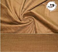 """Gold Premium Corduroy 100% Cotton Fabric Material 7 Wale, High quality 58"""" Wide"""